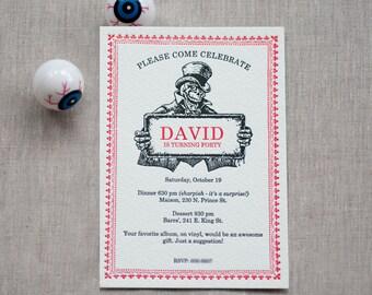 Beyond The Grave - 40th Birthday Invitation (50 qty)
