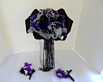 Bride Vampire halloween wedding brooch bouquet Count Dracula  For alternative wedding bouquet ., bridal bouquet, brooch  bouquet,