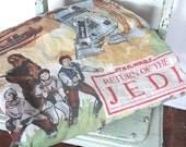 SALE Vintage Star Wars Fabric // 1980s Star Wars Episode VI Bed Sheet // Return of the Jedi