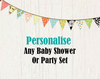 Personalise your party set.