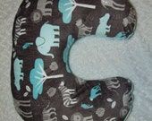 Zoology Boppy Cover - Jolly Jumper Cover- Jungle Animal Boppy Cover -  Boy Boppy Cover - Minky Boppy Cover - Ships in 1-3 Days