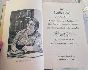 Vintage Vermont Cookbook Ladies Aid Illustrated First Edition