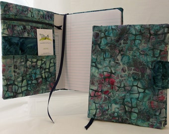 Notebook Cover for a 9.75 in X 7.5 in notebook __Seamist