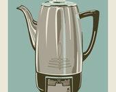 Coffee Pot - Blue