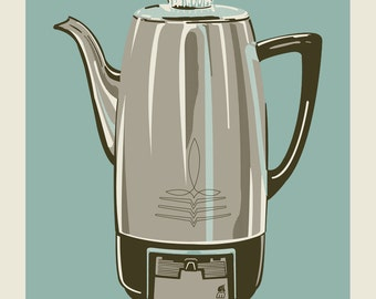 Coffee Pot - Blue