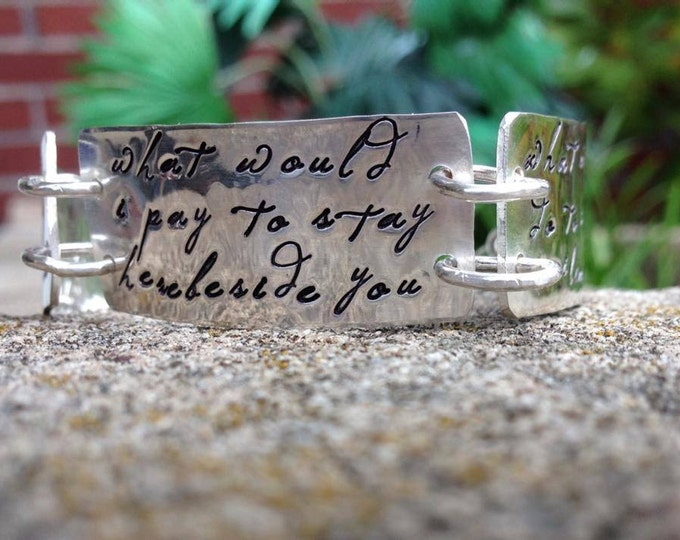 Solid Sterling Triple Plate Bracelet - Customize Words, Font, Phrases