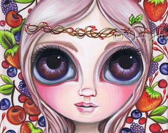 """ART PRINT """"Winterberry"""" by Jaz Higgins - Perfect for any bohemian, whimsical inspired room in your home, kids room, nursery or living space."""