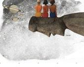Wish Upon a Moai retro tiki mid century