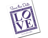 Philly Love Sign - Save the Date - Philadelphia - Magnet or Kraft Paper - Personalized Printable File or Print Package - #00022-STDA2