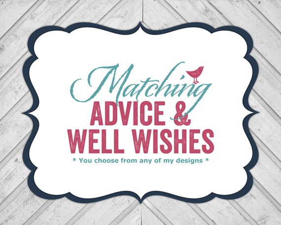advice and well wishes diy printable baby shower games bridal shower