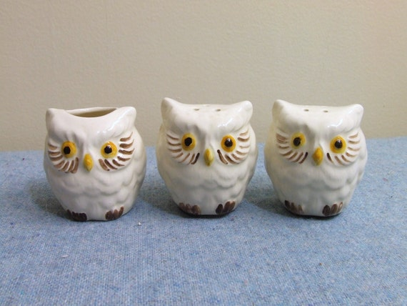 Little Owls Salt And Pepper Shakers By Theoddowl On Etsy