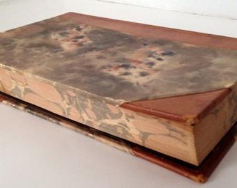 Victor Hugo Book 1927 Samlade Skrifter Swedish Language Volume 1 Vintage Leather Bound Marbled Boards Sweden