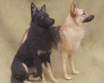 Needle felted dog, custom portrait of your pet, 8-10 month turnaround time