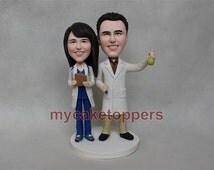 custom wedding cake topper doctor topper