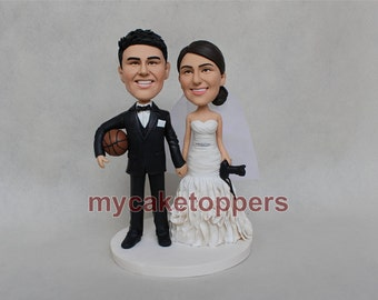 wedding Cake topper camera basketball cake topper camera