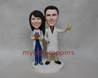 custom wedding cake topper doctor topper
