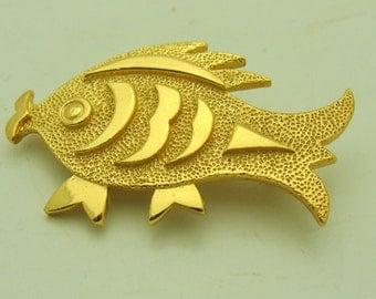 Costume Abstract Fish Pin