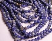 Blue spot Jasper - 6 mm - round bead -  62 beads - full strand - RFG1139
