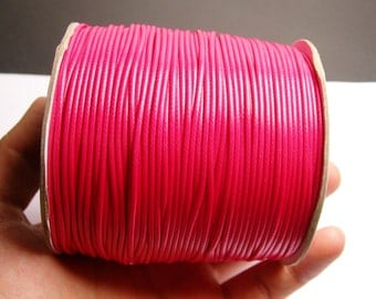 Polyester wax cord - 1.5mm - high quality - 160 meter - 524 foot - hot pink  - full roll -  PECM5