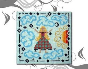 PDF download E Pattern Lucy in the Sky The Beatles Cross Stitch Pattern Sampler 21