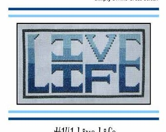 PDF E pattern emailed LIVE Life Cross Stitch Pattern Sampler 141