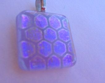 DESTASH SALE, PENDANT, Repurpose, Dichroic pendant, lavendar, sterling silver, fused glass, opalescent