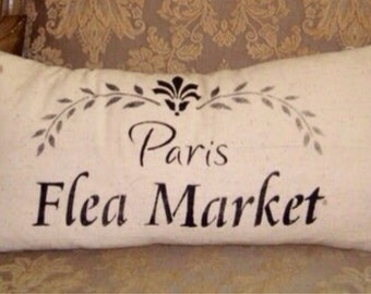 paris flea market pillow to order, other sizes available
