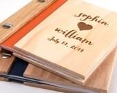 Wedding Vows Book Wood Custom Engraved Keepsake  Anniversary Gift