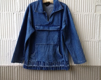 Vintage Denim 80s J. Peterman Anorak Style SALE