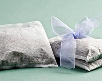 50 Large Heat Seal Tea Bags - 4 x 5 -  Bath Teas, Drinking Teas, Sachets, Spices, Bath Salts, Etc