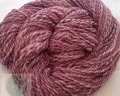 Hand Spun Falkland Purple Variegate Yarn 180 yards