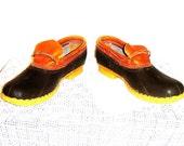 Bean Boots Vintage L.L. Bean Duck Boot Low-Top Boat Shoes Men's Size 13