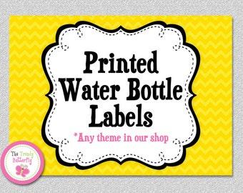 Water Bottle Labels ,  Printed Water Bottle Labels ,  Set of 10
