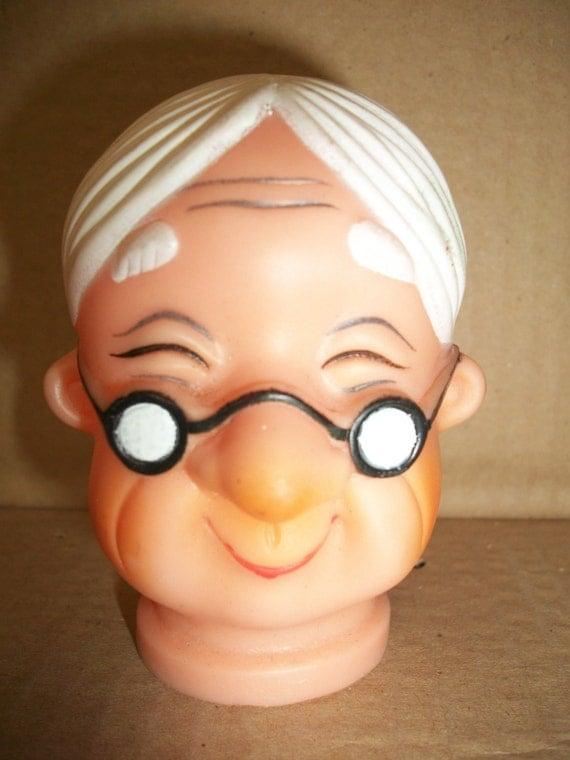 Vintage Plastic Vinyl Grandpa Amp Grandma Doll Head Couple