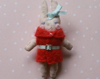 Roo -Handmade Bunny Brooch