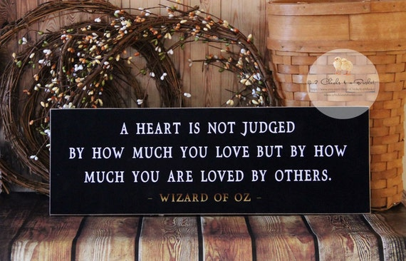 A Heart Is Not Judged.. Wizard Of Oz Wood By 2ChicksAndABasket