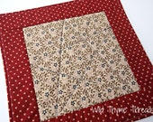 Patriotic Reversible Candle Mat Table Topper