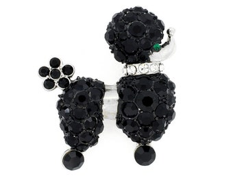 Black Poodle Dog Pin Brooch 1011713