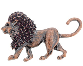 Vintage Style Lion Pin Brooch 1003831