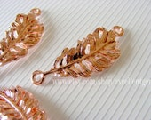 10pcs-- Rose gold plated plumage curced bracelet Connector,15*35mm