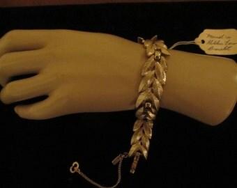 60's Monet Sample Bracelet Golden Fern