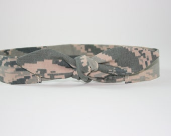 US Air Force ABU baby headband with tie