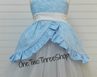 Custom Boutique Clothing  Cinderella Inspired Tulle skirt and top Set  Sassy Girl