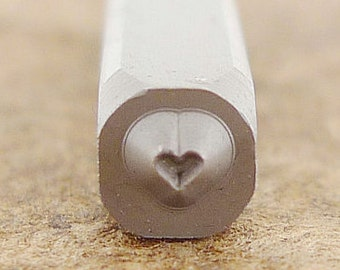 Tiny Heart Metal Design Stamp-Measures approx 1.5  x 1.5 mm  Metal Design Stamp-Metal Stamping Supplies