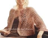 Vintage Irish Crochet Jacket Pattern PDF 620 from WonkyZebra