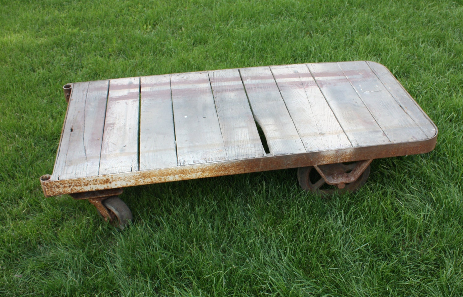 Industrial Warehouse Cart Coffee Table Rustic By RustyWindmill