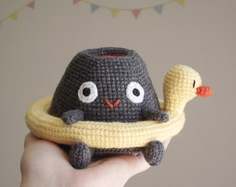 Vlad the volcano amigurumi and duck lifebuoy - patternPDF