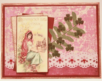 St. Patrick's Day Card - St Patrick's Day Greetings - Vintage St Patrick's Day Card - Victorian St Patrick's Day Card