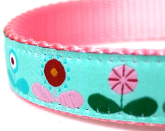 My Flower Garden Dog Collar / Adjustable / Ribbon Dog Collar