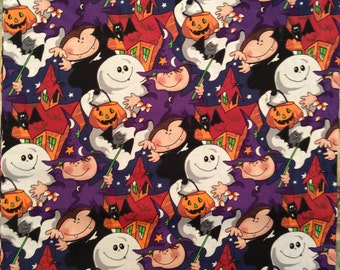 A Wonderful Halloween Holiday Tricks Or Treats Fabric By The Yard Free US Shipping
